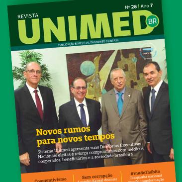 Mudança de hábitos, sustentabilidade e ética são alguns dos assuntos tratados na edição 28 da Revista Unimed