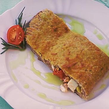 Saboroso e saudável: Calzone integral de batata doce