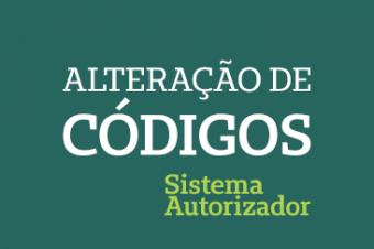 Alteração de códigos no Perfil Médico – Sistema Autorizador