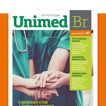 Iniciativas para reconhecer os heróis da saúde. Vem ler a Revista Unimed BR!