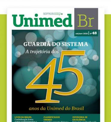 Leia a revista Unimed BR em comemoração aos 45 anos da Unimed do Brasil